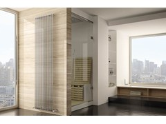 - Vertical wall-mounted chrome plated steel decorative radiator ARPA | Chrome plated steel decorative radiator - IRSAP