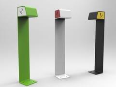 Posacenere per spazi pubblici da terra in acciaioASH | Posacenere per spazi pubblici - CITYSÌ
