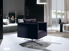 - Fabric armchair with 4-spoke base with armrests ASIA SOFT LIGHT - FRIGERIO POLTRONE E DIVANI