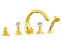 - 5 hole bathtub set with Swarovski® crystals ATLANTICA | Bathtub set with Swarovski® crystals - Bronces Mestre