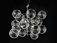 - Crystal pendant lamp ATOM Ø 60 - Metal Lux di Baccega R. & C.