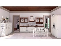 - Lacquered solid wood fitted kitchen AUREA CLASSIC - CREO Kitchens by Lube