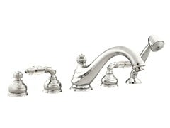 - 5 hole bathtub set with Swarovski® crystals AUSTRAL | Bathtub set with Swarovski® crystals - Bronces Mestre