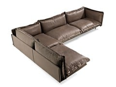 - Sectional leather sofa AUTO-REVERSE | Sectional sofa - Arketipo