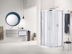 - Laminate bathroom cabinet / vanity unit AVANTGARDE - Composition 1 - INDA®