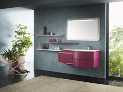 - Contemporary style lacquered wood-product wall cabinet with drawers with drawers AVANTGARDE - Composition 3 - INDA®