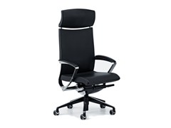 - Leather executive chair with 5-spoke base with headrest with casters AVIA 4044 - TALIN