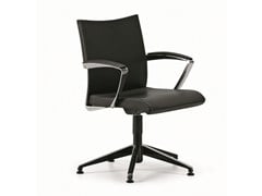 - Height-adjustable leather task chair with 5-Spoke base with armrests AVIA 4104 - TALIN