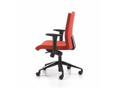 - Fabric task chair with 5-Spoke base with armrests with casters AVIAMID 3596 - TALIN