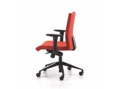 - Sedia ufficio operativa in tessuto a 5 razze con braccioli con ruote AVIAMID 3596 - TALIN