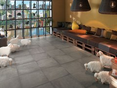 - Wall/floor tiles with concrete effect AZIMUT CHAUD - NOVOCERAM