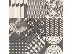 - Glazed stoneware wall/floor tiles AZULEJ NERO COMBINATION - MUTINA