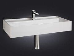 - Rectangular wall-mounted resin washbasin BASE - Vallvé Bathroom Boutique