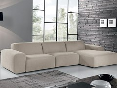 - Fabric sofa with chaise longue BAZAR | Fabric sofa - Max Divani