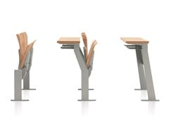 - Beam seating with writing tablet with tip-up seats CONNEXION | Beam seating with tip-up seats - Emmegi
