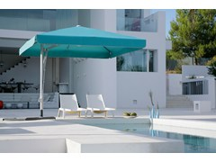 - Offset round square acrylic fabric Garden umbrella BELVEDERE | Offset Garden umbrella - Michael Caravita