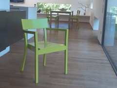 - Stackable wooden chair BERGAMO | Chair with armrests - TON