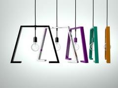 - Painted metal pendant lamp BERLINER 1 - Altinox Minimal Design