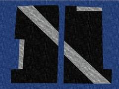 - Handmade rectangular rug BI LINE - Deirdre Dyson