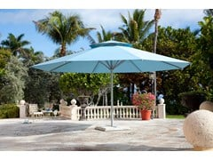 - Round acrylic fabric Garden umbrella with built-in lights with integrated heating BIG BEN | Round Garden umbrella - Michael Caravita