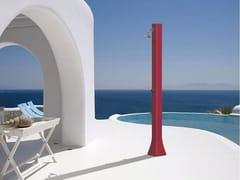 Doccia esterna solare in polietilene con lavapiediBIG HAPPY H320 - ARKEMA DESIGN
