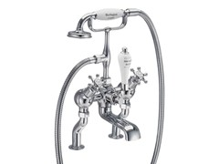 - Chromed brass bathtub tap with aerator with hand shower BIRKENHEAD | Bathtub tap with aerator - Polo