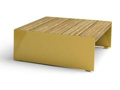 Tavolino per spazi pubblici in acciaio e legnoBLOC | Tavolo per spazi pubblici - VESTRE