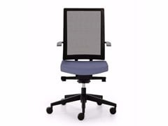 - Height-adjustable mesh task chair with 5-Spoke base with casters BLUE | Mesh task chair - Sinetica Industries