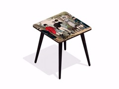 - Square beech wood and HPL coffee table BOIS DE VINCENNES   Square coffee table - Bazartherapy
