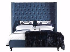 - Velvet bed with high headboard BOND - Gianfranco Ferré Home