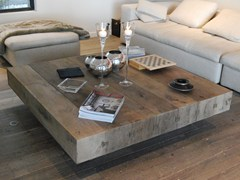 - Low oak coffee table BONHEUR | Square coffee table - CABUY D.