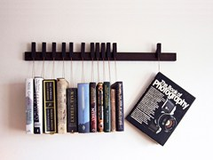 - Wall-mounted solid wood bookcase BOOK RACK | Wenge bookcase - AGUSTAV