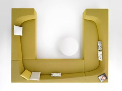 - Sectional fabric sofa with removable cover BORA BORA | Sectional sofa - MDF Italia