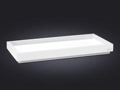 - Rectangular resin tray BORDA | Resin tray - Vallvé Bathroom Boutique