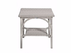 - Square garden side table BORNEO | Square coffee table - Tectona
