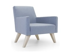 - Upholstered armchair with armrests BOSTON LOW | Armchair - Domingo Salotti