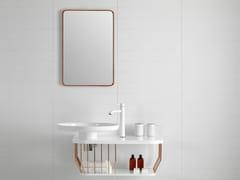 - Rectangular wall-mounted mirror BOWL | Wall-mounted mirror - INBANI