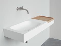- Rectangular wall-mounted HI-MACS® washbasin BOX | Wall-mounted washbasin - Not Only White
