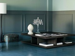 - Low square wooden coffee table BRERA | Square coffee table - Casamilano