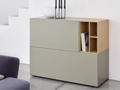 - Modular lacquered wooden sideboard with drawers BRICK | Sideboard with drawers - Caccaro