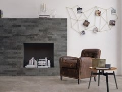 - Porcelain stoneware wall/floor tiles BRIK BACK ANTHRACITE - CERAMICHE KEOPE