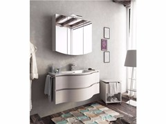 - Single wall-mounted vanity unit with drawers BROADWAY B13 - LEGNOBAGNO