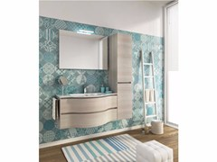 - Single wall-mounted vanity unit with drawers BROADWAY B15 - LEGNOBAGNO