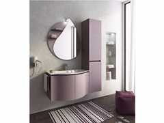 - Single wall-mounted vanity unit with doors BROADWAY B8 - LEGNOBAGNO
