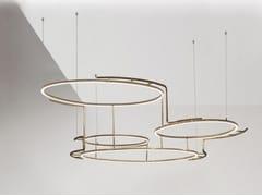 Lampada a sospensione a LED in ottoneBROCHE - DCW ÉDITIONS