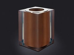 - Resin bathroom waste bin BRONZE GLOSS | Resin bathroom waste bin - Vallvé Bathroom Boutique