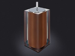 - Resin bathroom waste bin BRONZE GLOSS SMALL | Bathroom waste bin - Vallvé Bathroom Boutique