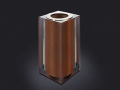 - Resin bathroom waste bin BRONZE GLOSS SMALL | Resin bathroom waste bin - Vallvé Bathroom Boutique