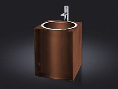 - Wall-mounted resin washbasin BRONZE GLOSS | Washbasin - Vallvé Bathroom Boutique