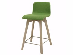 - Upholstered fabric counter stool with footrest BUZZY 03 KL62 - Z-Editions